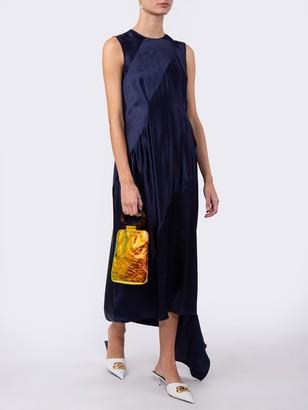 Sleeveless Satin Maxi Dress