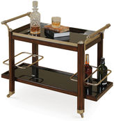 Maitland-Smith 38 Églomisé Bar Cart, Black/Gold
