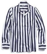Sleepy Jones Henry Pajama Shirt in Navy Tent Stripe
