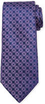 Charvet Small Floral Medallion Silk Tie