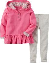 Carter's Peplum Hoodie and Leggings - Toddler Girls 2t-5t
