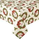 ARLEE Arlee Holiday Wreath Sparkle Tablecloth