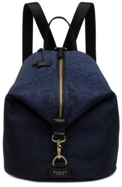 Radley London Signature Jacquard Large Zip Top Backpack