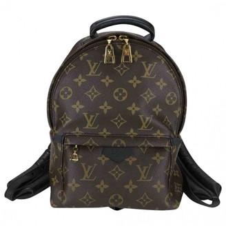 Louis Vuitton Palm Springs Brown Cloth Backpacks