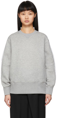 Sacai Grey Shirt Back Sprong Sweatshirt