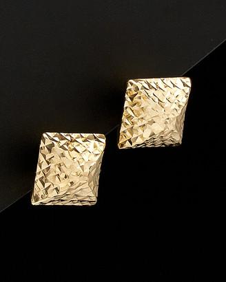 Italian Gold 14K Pyramid Studs