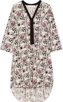 Thakoon printed eyelet-cotton dress