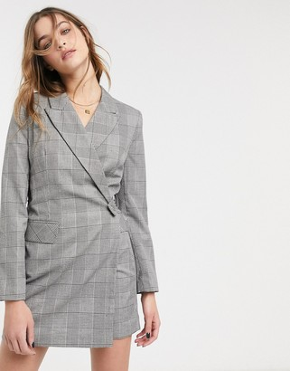 Topshop blazer dress in check