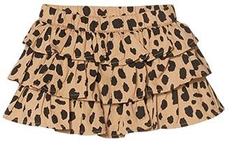 HUXBABY Animal Spot Frill Skirt (Infant/Toddler) (Sand) Girl's Skirt