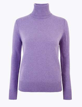 M&S CollectionMarks and Spencer Wool Rich Roll Neck Jumper