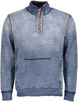 True Grit Faded Indigo Slub Fleece Quarter-Zip Pullover