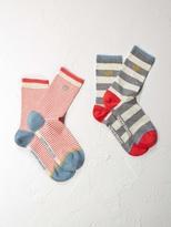 White Stuff Stripe 2 pack socks