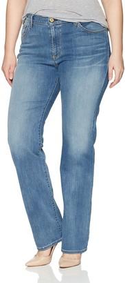 James Jeans Women's Plus Size Straight Hunter Jean in Vacay 10W