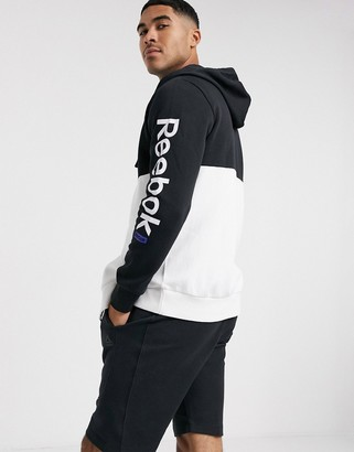 Reebok Training Essentials full zip hoodie in white