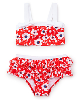 Pink Platinum Red & White Floral Bikini - Toddler