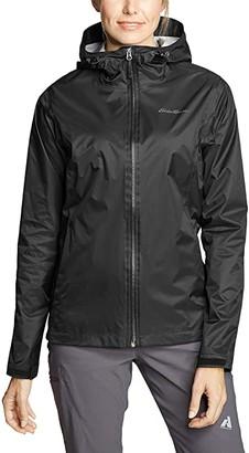 Eddie Bauer Cloud Cap Rain Jacket (Black) Women's Clothing