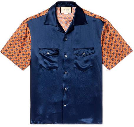 b4bace7c Gucci Silk Shirts Men - ShopStyle