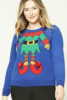 Forever 21 FOREVER 21+ Plus Size Holiday Elf Sweater