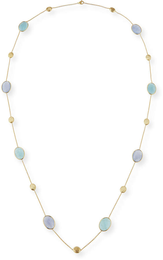 Marco Bicego Siviglia Resort Aquamarine & Chalcedony Long Necklace