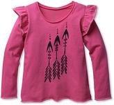 Dark Pink Arrow Angel-Sleeve Tee - Toddler & Girls