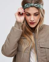 Glamorous Khaki Bow Headband