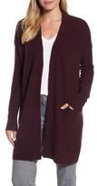 Halogen Petite Women's Ribbed Cashmere Cardigan