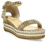 Christian Louboutin Madmonica 60 Spiked Suede Platform Espadrille Sandals