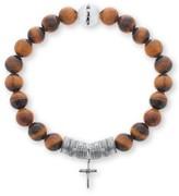 Steve Madden Men's Cross Charm Bracelet