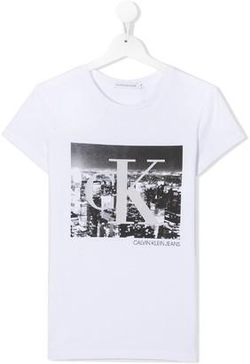 Calvin Klein Kids TEEN photographic-print T-shirt