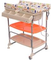Homcom Baby Changing Table Unit Changing Station Storage Trays and Bath with Tub Brand New