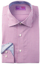 Lorenzo Uomo Fancy Check Trim Fit Dress Shirt