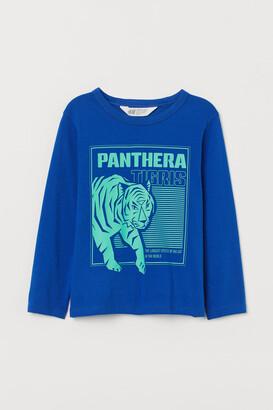 H&M Printed Jersey Shirt - Blue