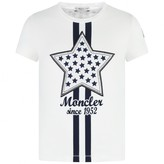 Moncler MonclerGirls Ivory Cotton Star Top