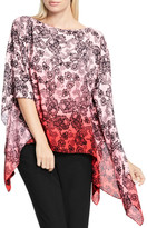 Vince Camuto Festive Lace Print Poncho