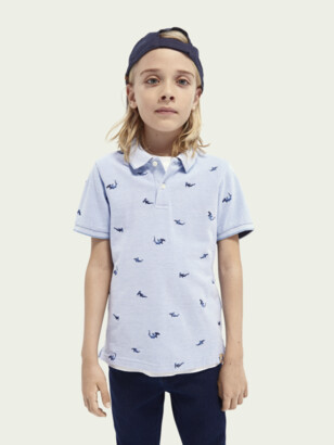 Scotch & Soda Short-sleeved embroidered polo | Boys