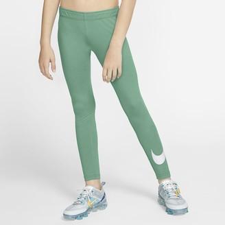 Nike Big Kids' (Girls') Leggings Sportswear Swoosh