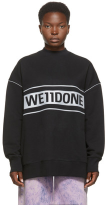 we11done Black Reflective Logo Sweatshirt