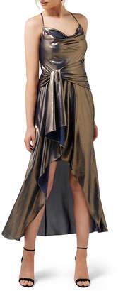 Ever New Charli Metallic Cowl Neck Maxi Dress