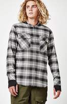 Analog ATF Kaiden Hooded Plaid Flannel Long Sleeve Zip Shirt