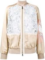 No.21 macrame lace bomber jacket