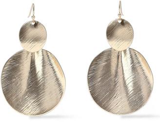 Kenneth Jay Lane Brushed 22-karat Gold-plated Earrings