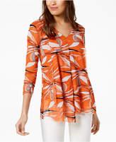 Alfani Draped Asymmetrical Top, Created for Macy's