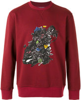 Lanvin car and flowers sweatshirt