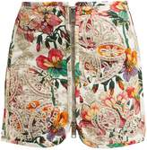 Isabel Marant Rilzen Hawaiian-print cotton mini skirt