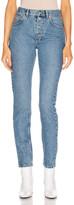 Balenciaga Tube Jean in Double Stonewash Indigo | FWRD