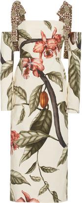 Johanna Ortiz Dense Jungle Printed Organic Cotton Midi Dress