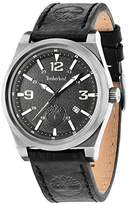 Timberland Men's Quartz Watch with Black Dial Analogue Display and Black Leather Strap TBL.14641JSU/02