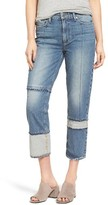 Paige Women's Sarah High Waist Crop Straight Leg Jeans