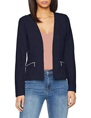 Tom Tailor Casual Women's Strukturierter Blazer Suit Jacket, (Real Navy Blue 10360), (Size of : Medium)