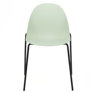 Euro Style Tayte Armless Stackable Chair Eurostyle Seat Finish: Avocado Green